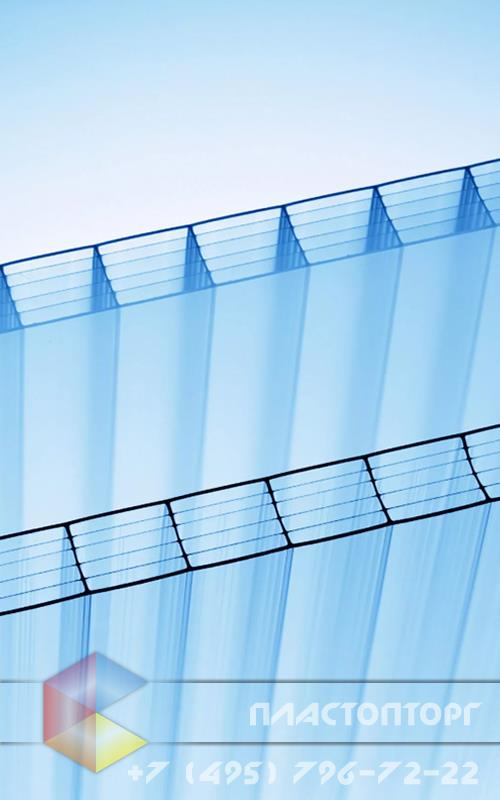 Сотовый поликарбонат 16 мм структура 3R прозрачный