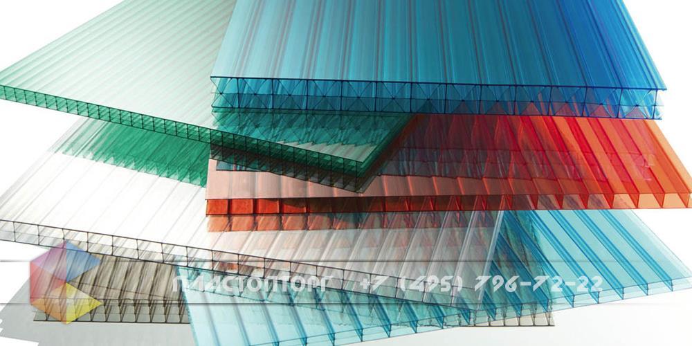 Сотовый поликарбонат 8 мм прозрачный и цветной