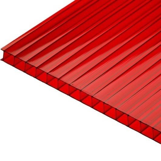 Сотовый поликарбонат 32мм красный