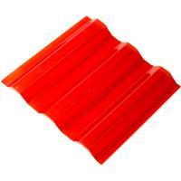 Профилированный поликарбонат красный