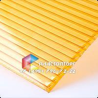 Сотовый поликарбонат 32мм желтый