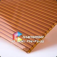 Сотовый поликарбонат цвета бронза коричневая