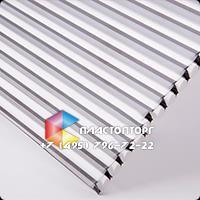 Сотовый поликарбонат цвета серебро