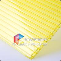 Сотовый поликарбонат цвета желтый