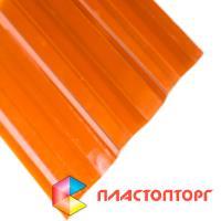 Профилированный поликарбонат цвета бронза коричневая