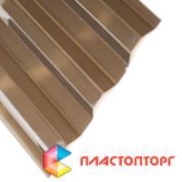 Профилированный поликарбонат цвета бронза серая