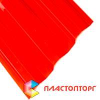 Профилированный поликарбонат красного цвета