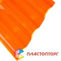 Профилированный поликарбонат оранжевого цвета
