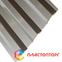 Профилированный поликарбонат цвета серебро