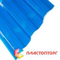 Профилированный поликарбонат синего цвета