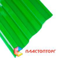 Профилированный поликарбонат зеленого цвета