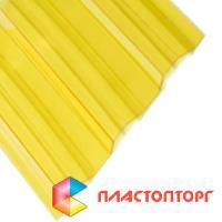 Профилированный поликарбонат желтого цвета